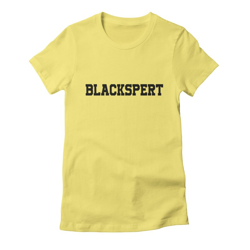 BLACKSPERT (Black Ink) Women's Fitted T-Shirt by amandaseales's Artist Shop