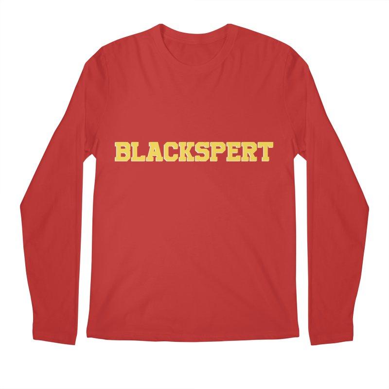 BLACKSPERT (Yellow Ink) Men's Longsleeve T-Shirt by amandaseales's Artist Shop