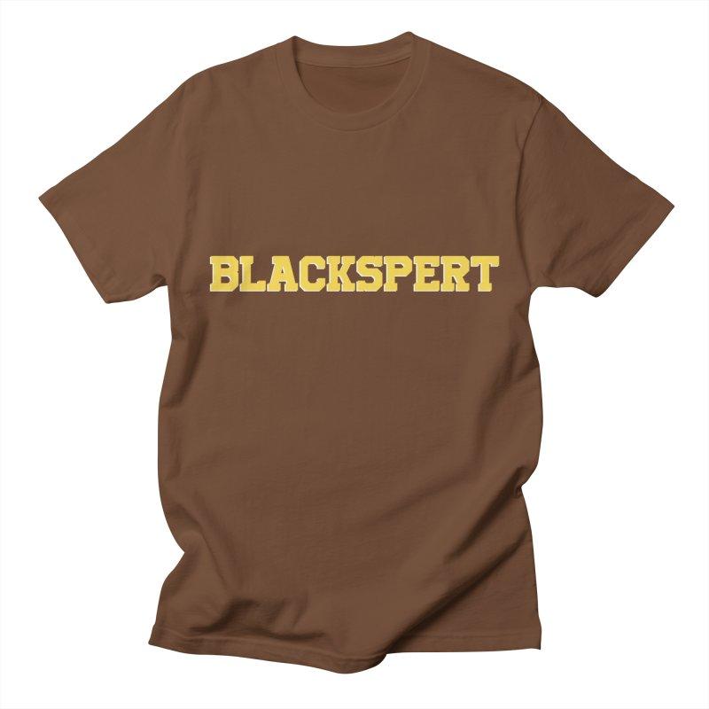 BLACKSPERT (Yellow Ink) Men's T-Shirt by amandaseales's Artist Shop