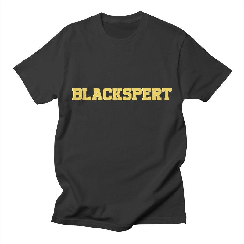 BLACKSPERT (Yellow Ink) Women's Unisex T-Shirt by amandaseales's Artist Shop