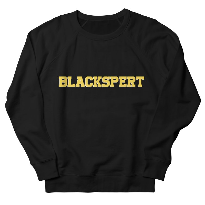 BLACKSPERT (Yellow Ink) in Women's Sweatshirt Black by amandaseales's Artist Shop