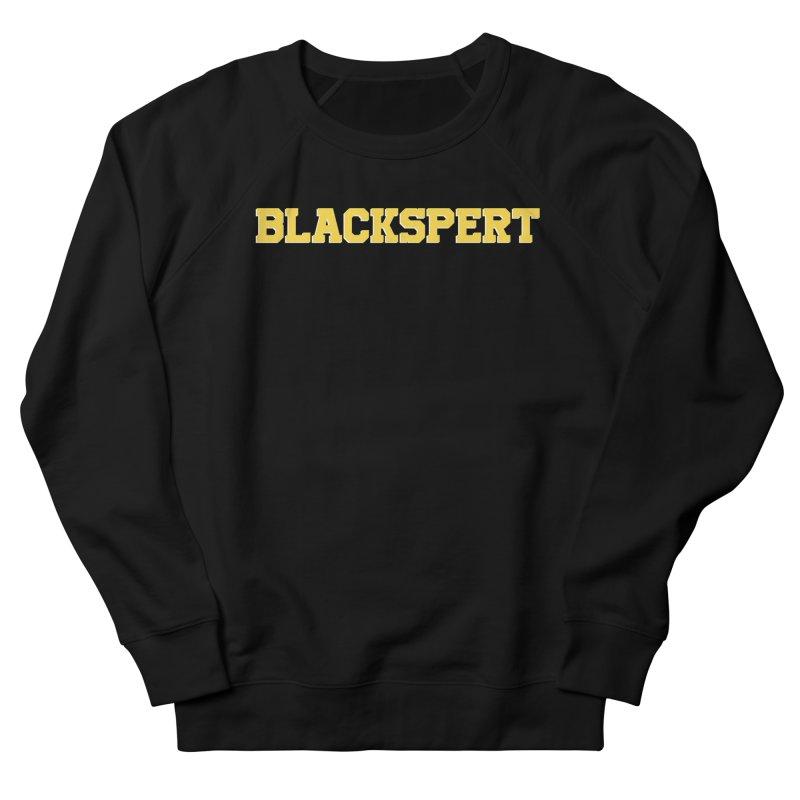 BLACKSPERT (Yellow Ink) in Women's French Terry Sweatshirt Black by amandaseales's Artist Shop