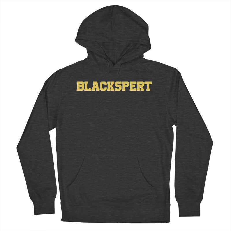 BLACKSPERT (Yellow Ink) Men's French Terry Pullover Hoody by amandaseales's Artist Shop