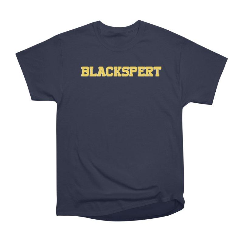 BLACKSPERT (Yellow Ink) Women's Heavyweight Unisex T-Shirt by amandaseales's Artist Shop
