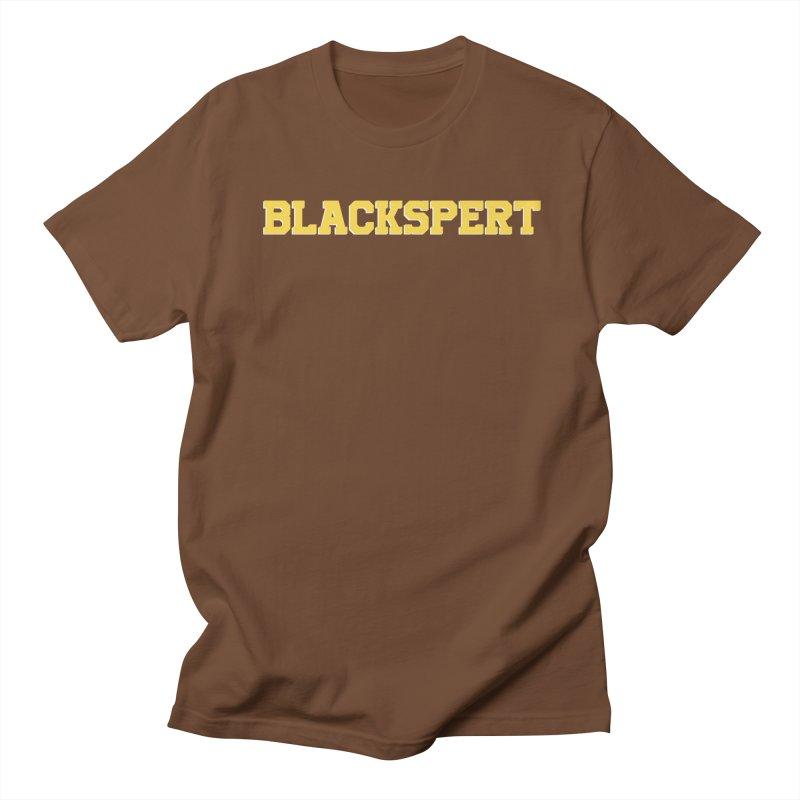 BLACKSPERT (Yellow Ink) Women's Regular Unisex T-Shirt by amandaseales's Artist Shop