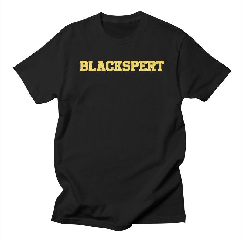 BLACKSPERT (Yellow Ink) Men's Regular T-Shirt by amandaseales's Artist Shop