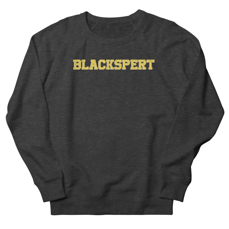 BLACKSPERT (Yellow Ink) Men's French Terry Sweatshirt by amandaseales's Artist Shop