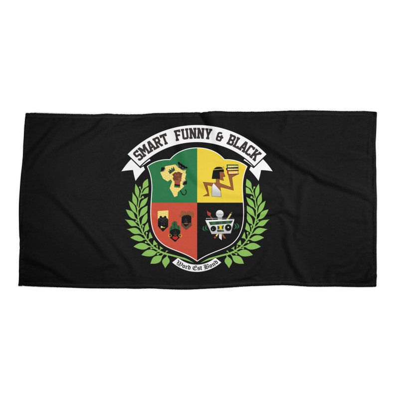 SFB CREST (White Ink) Accessories Beach Towel by Amanda Seales