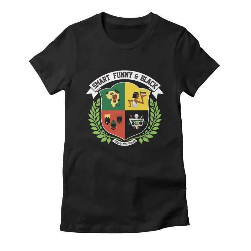 SFB (White Ink) in Women's Fitted T-Shirt Black by amandaseales's Artist Shop