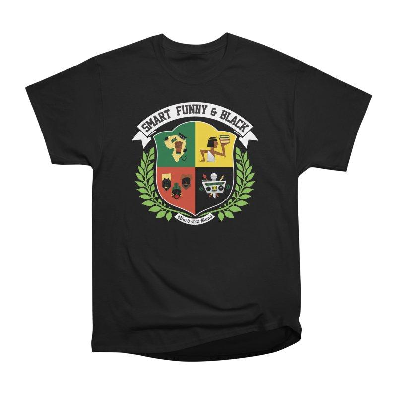 SFB CREST (White Ink) Men's T-Shirt by Amanda Seales