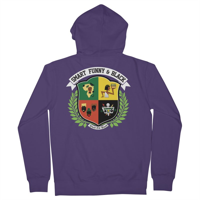 SFB CREST (White Ink) Women's Zip-Up Hoody by Amanda Seales