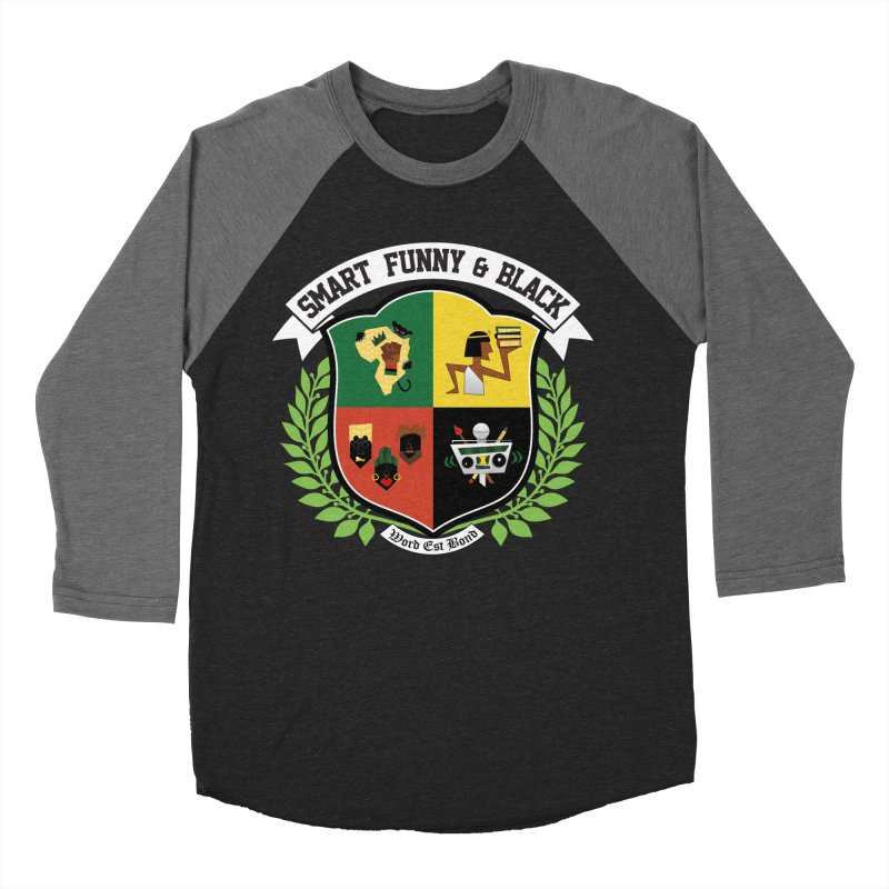 SFB CREST (White Ink) in Women's Baseball Triblend Longsleeve T-Shirt Grey Triblend Sleeves by amandaseales's Artist Shop