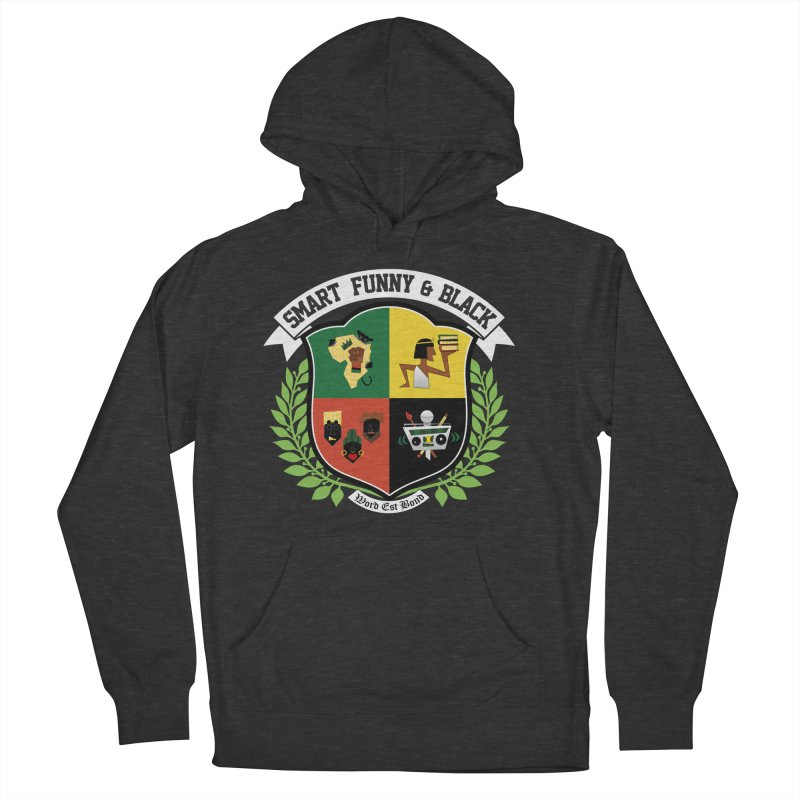 SFB CREST (White Ink) Men's French Terry Pullover Hoody by amandaseales's Artist Shop