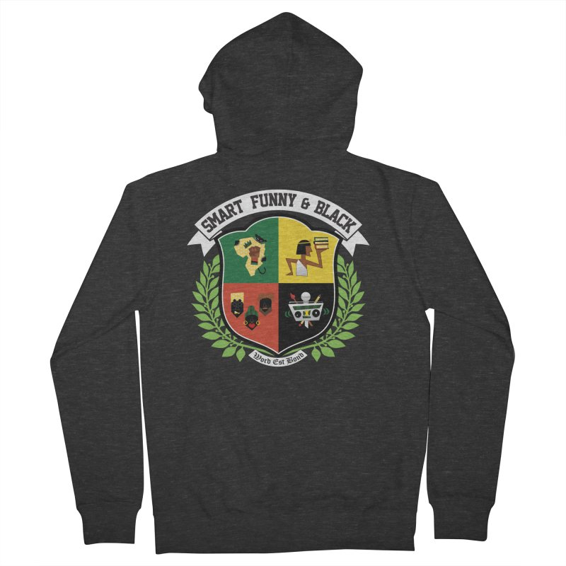 SFB CREST (White Ink) Women's French Terry Zip-Up Hoody by amandaseales's Artist Shop