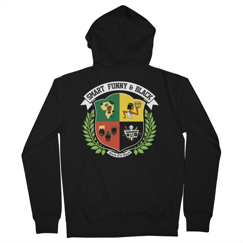 SFB CREST (White Ink) Women's French Terry Zip-Up Hoody by Amanda Seales