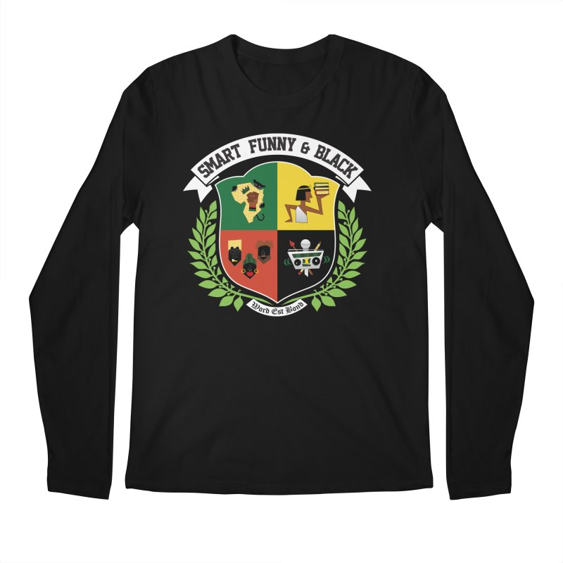 SFB CREST (White Ink) Men's Regular Longsleeve T-Shirt by amandaseales's Artist Shop