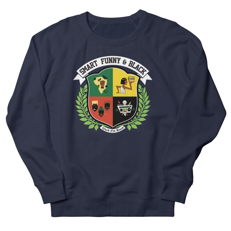 SFB CREST (White Ink) Women's French Terry Sweatshirt by amandaseales's Artist Shop
