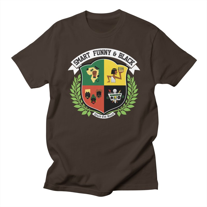 SFB CREST (White Ink) Men's Regular T-Shirt by amandaseales's Artist Shop