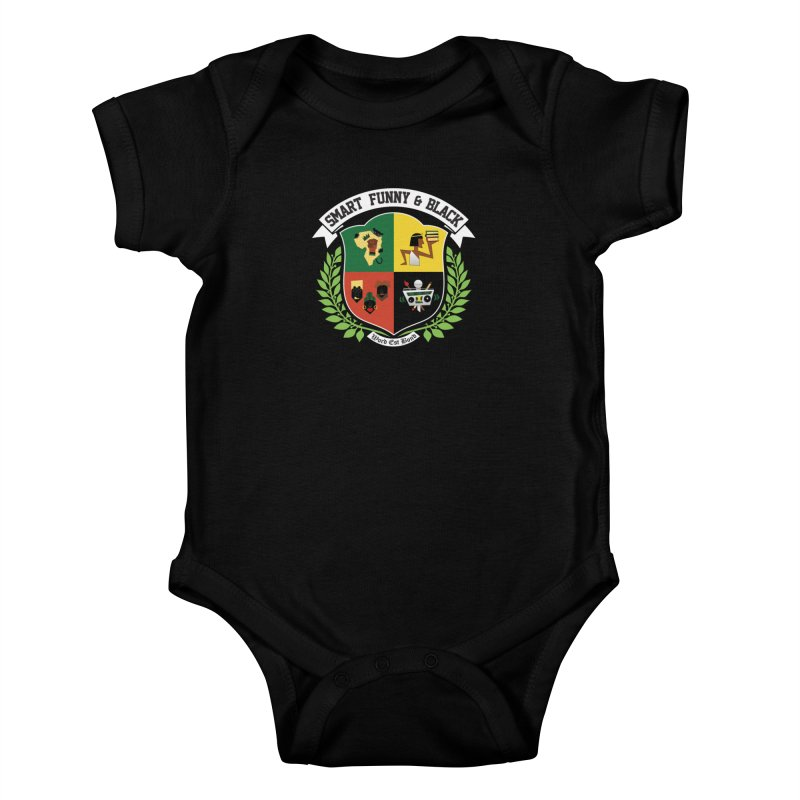 SFB CREST (White Ink) Kids Baby Bodysuit by Amanda Seales