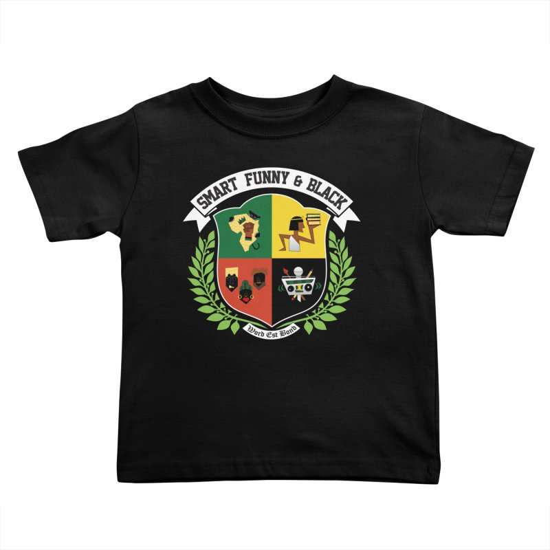 SFB CREST (White Ink) Kids Toddler T-Shirt by Amanda Seales