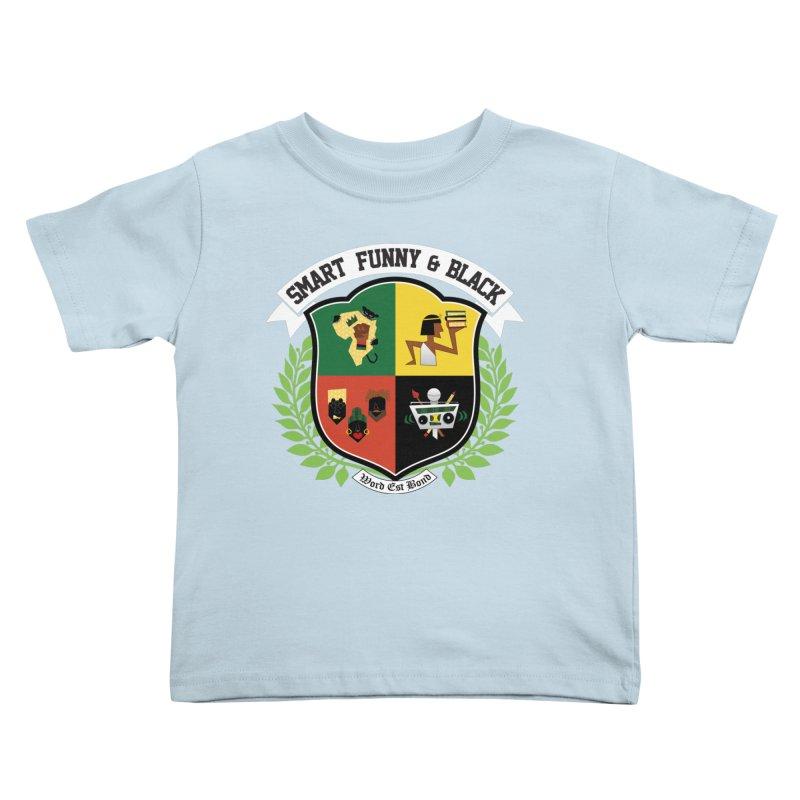 SFB CREST (White Ink) Kids Toddler T-Shirt by amandaseales's Artist Shop