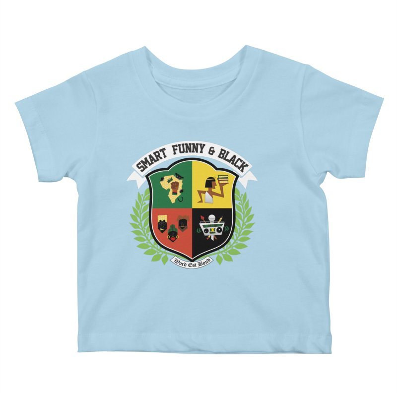 SFB CREST (White Ink) Kids Baby T-Shirt by amandaseales's Artist Shop