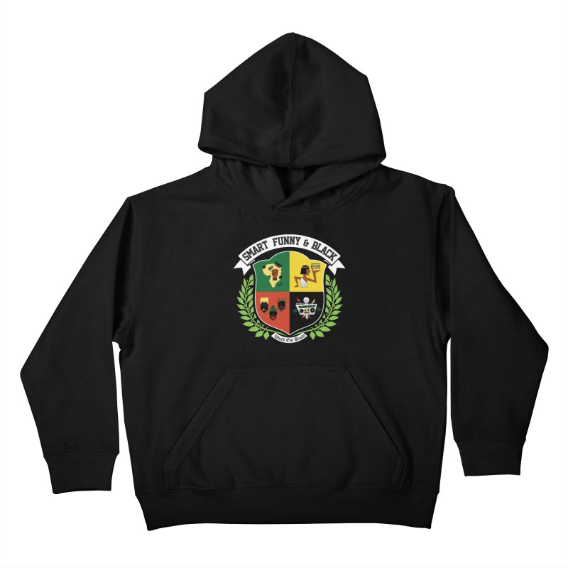 SFB CREST (White Ink) Kids Pullover Hoody by Amanda Seales