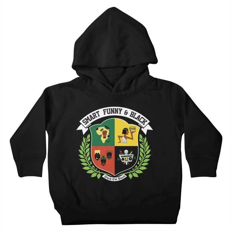 SFB CREST (White Ink) Kids Toddler Pullover Hoody by Amanda Seales