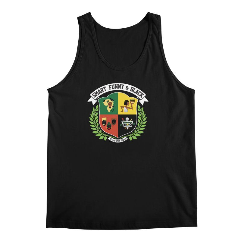 SFB CREST (White Ink) Men's Regular Tank by amandaseales's Artist Shop