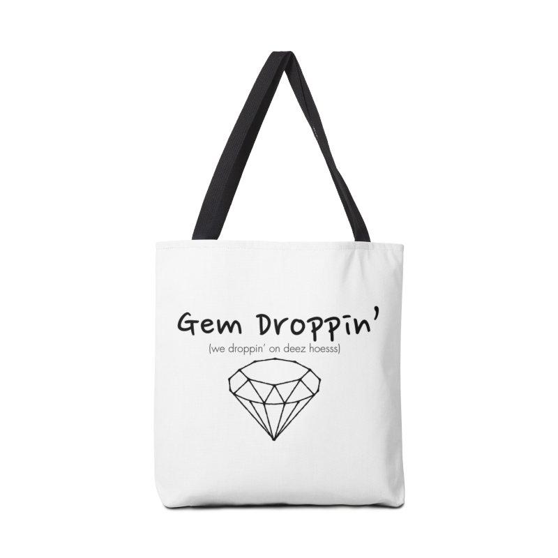 GEM DROPPIN (Black Ink) Accessories Bag by amandaseales's Artist Shop