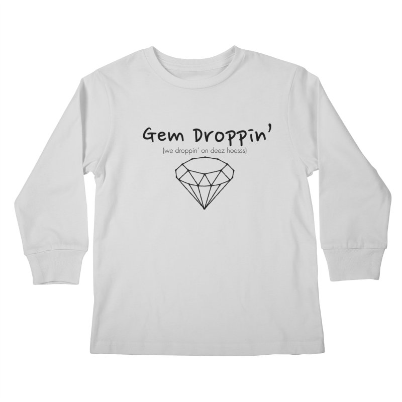 GEM DROPPIN (Black Ink) Kids Longsleeve T-Shirt by amandaseales's Artist Shop