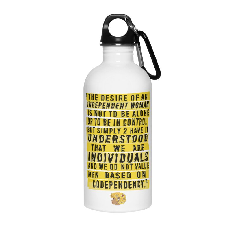 INDEPENDENT WOMAN Accessories Water Bottle by amandaseales's Artist Shop