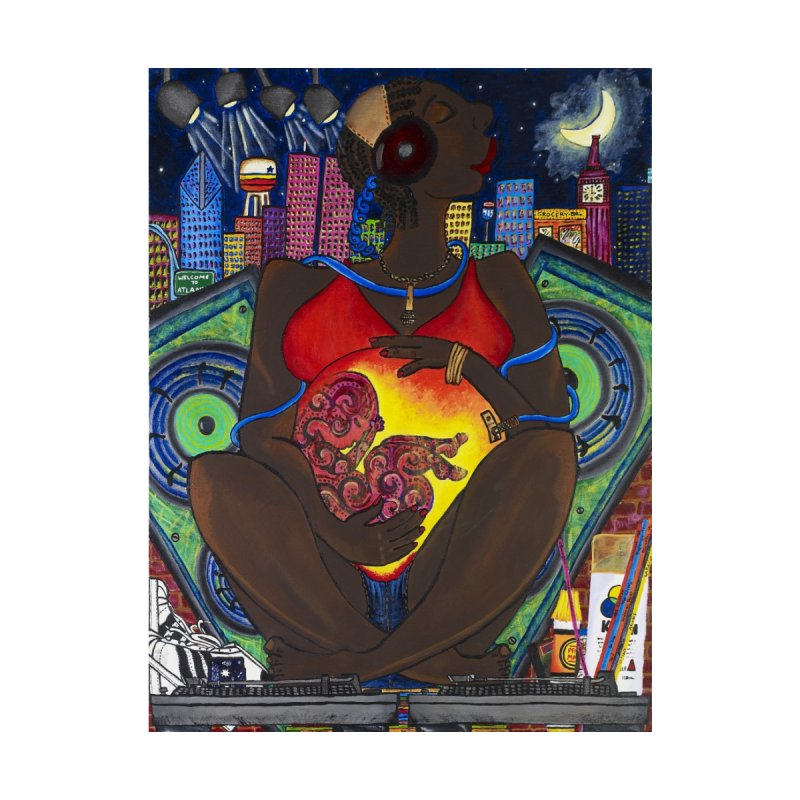 From the Womb to the Boom 1 Home Fine Art Print by Amanda Seales
