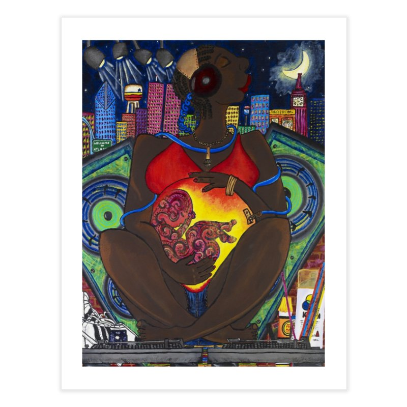 From the Womb to the Boom 1 Home Fine Art Print by amandaseales's Artist Shop