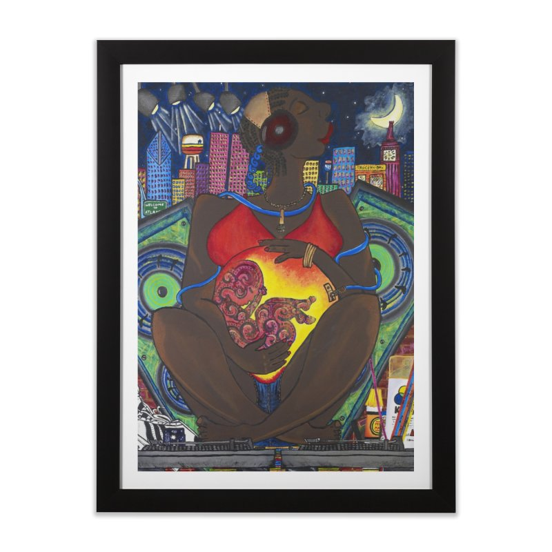 From the Womb to the Boom 1 Home Framed Fine Art Print by Amanda Seales