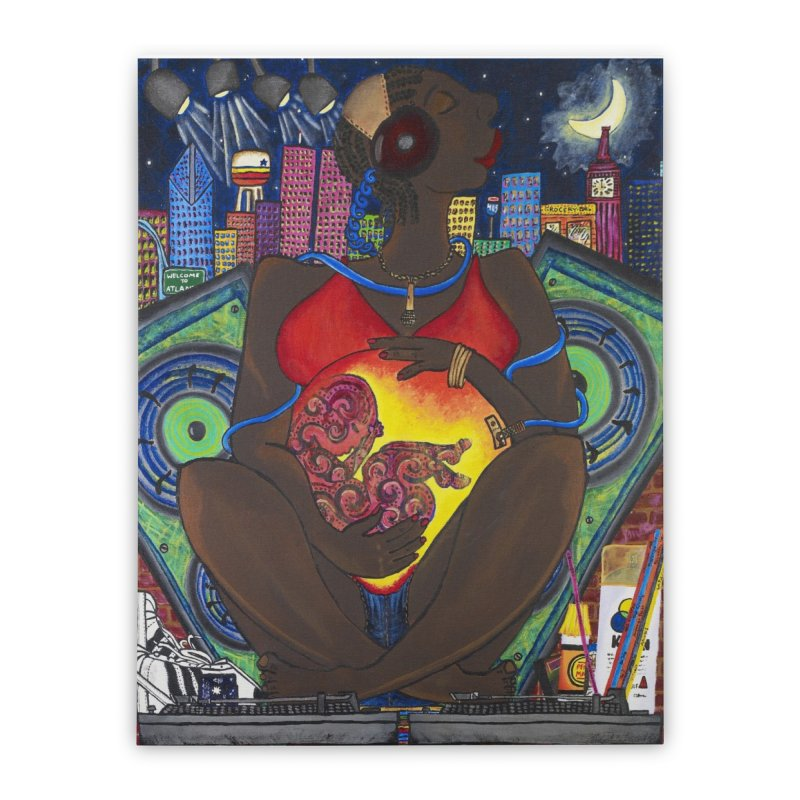 From the Womb to the Boom 1 Home Stretched Canvas by amandaseales's Artist Shop