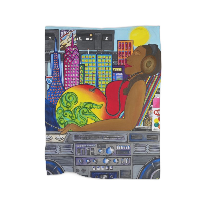 From the Womb to the Boom 2 Home Fleece Blanket Blanket by Amanda Seales