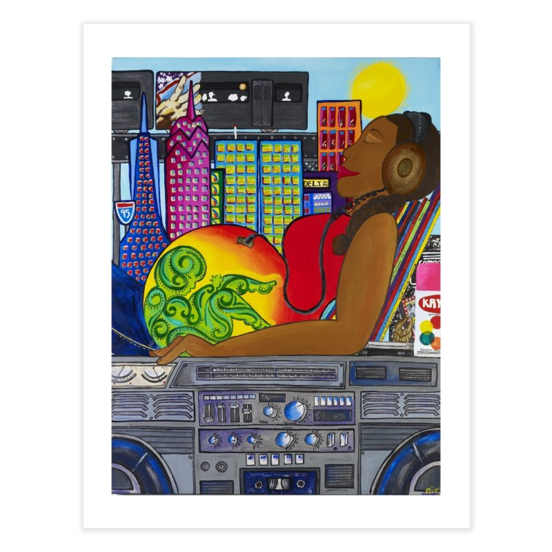 From the Womb to the Boom 2 Home Fine Art Print by Amanda Seales