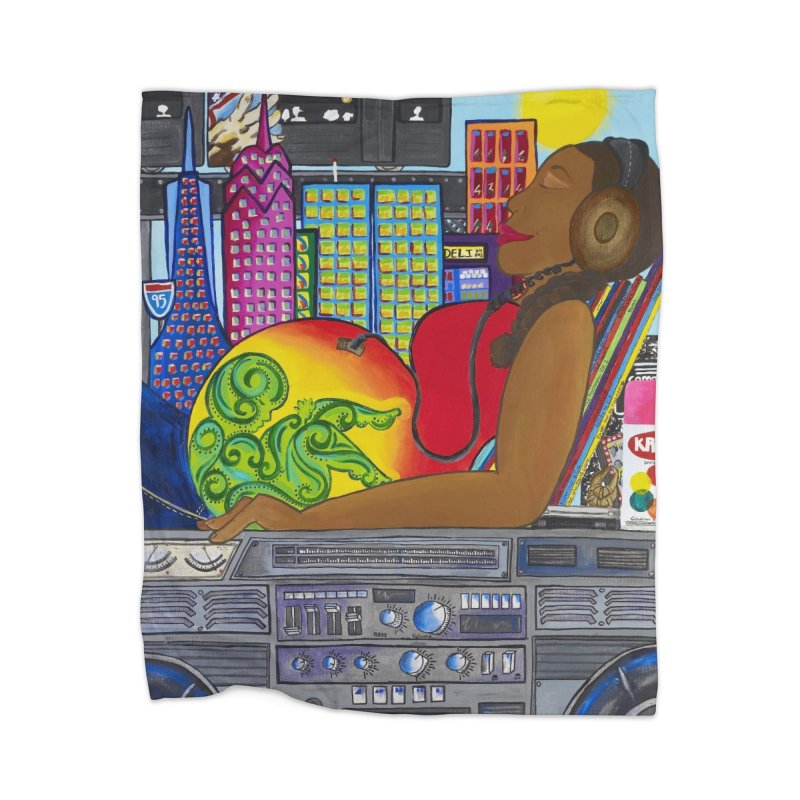 From the Womb to the Boom 2 Home Blanket by Amanda Seales