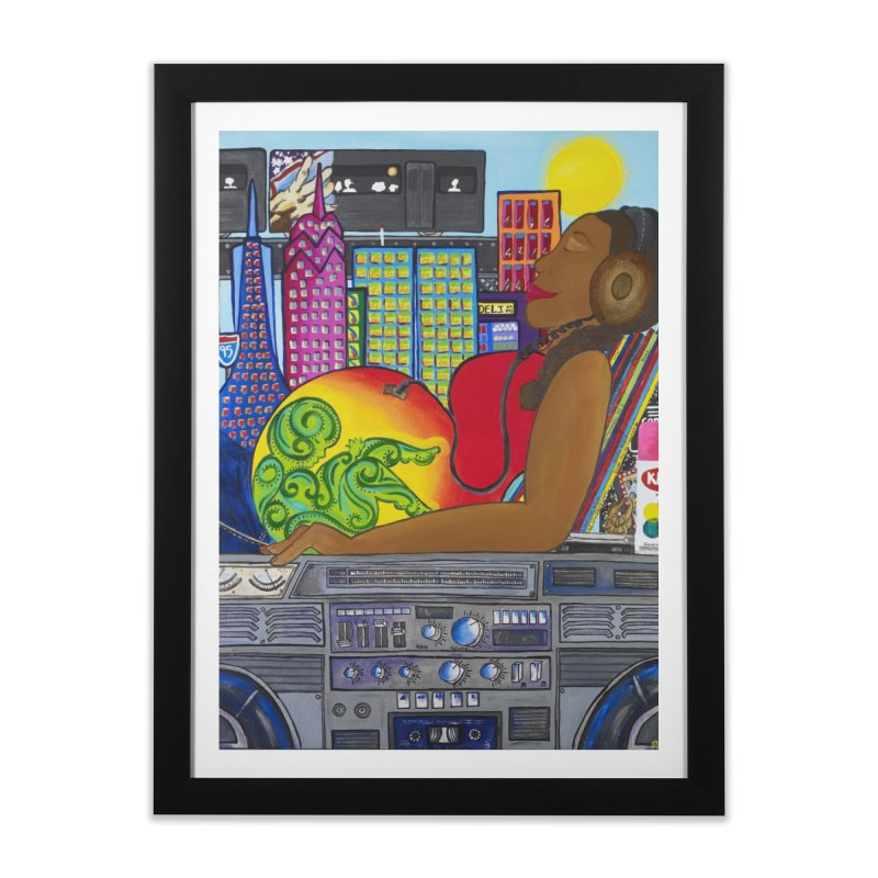 From the Womb to the Boom 2 Home Framed Fine Art Print by Amanda Seales