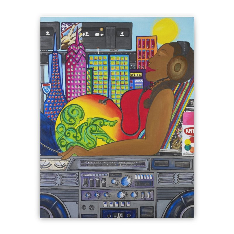 From the Womb to the Boom 2 Home Stretched Canvas by amandaseales's Artist Shop
