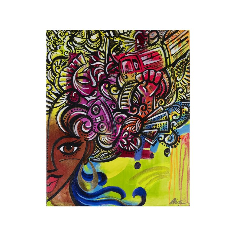Afro Series 1 Home Fine Art Print by Amanda Seales