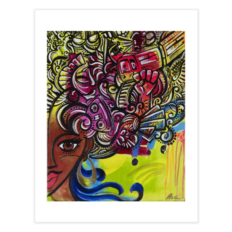 Afro Series 1 Home Fine Art Print by Amanda Seales
