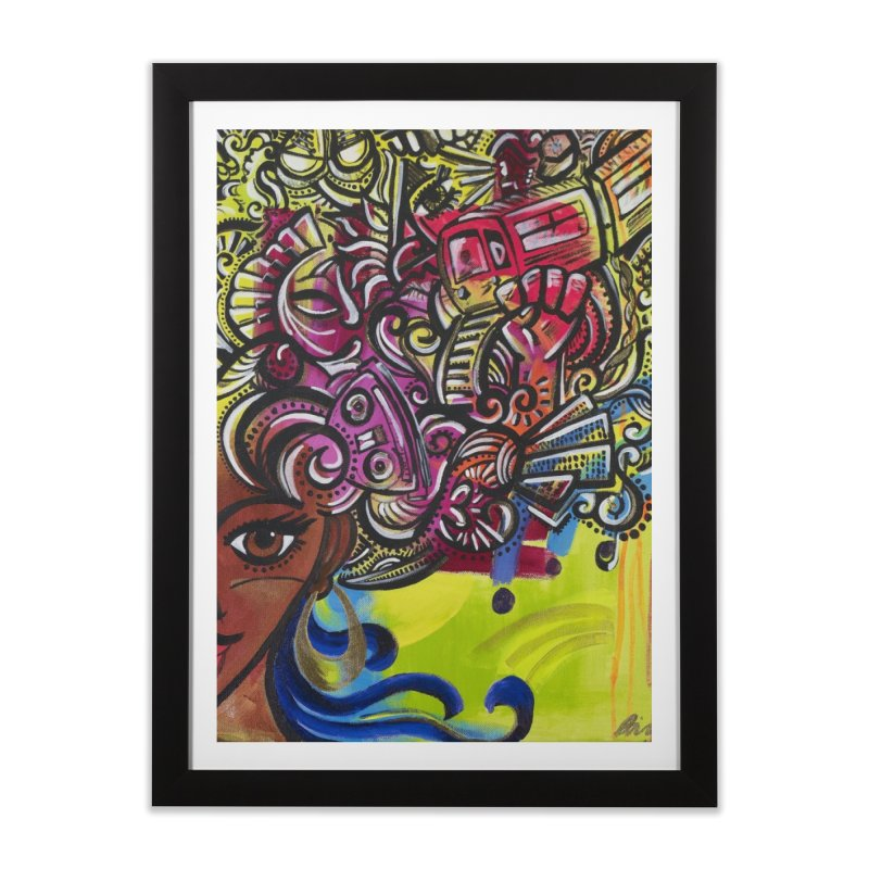 Afro Series 1 Home Framed Fine Art Print by Amanda Seales