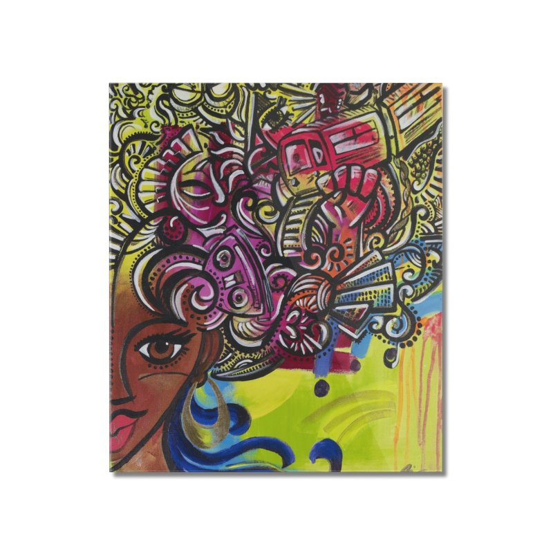 Afro Series 1 Home Mounted Acrylic Print by amandaseales's Artist Shop