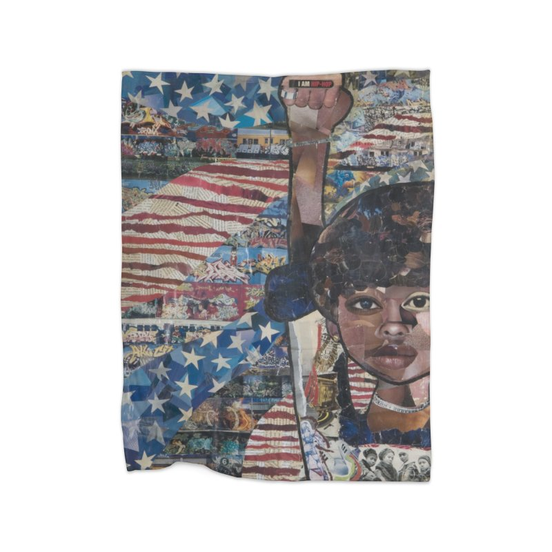 I am Hip Hop Home Fleece Blanket Blanket by Amanda Seales