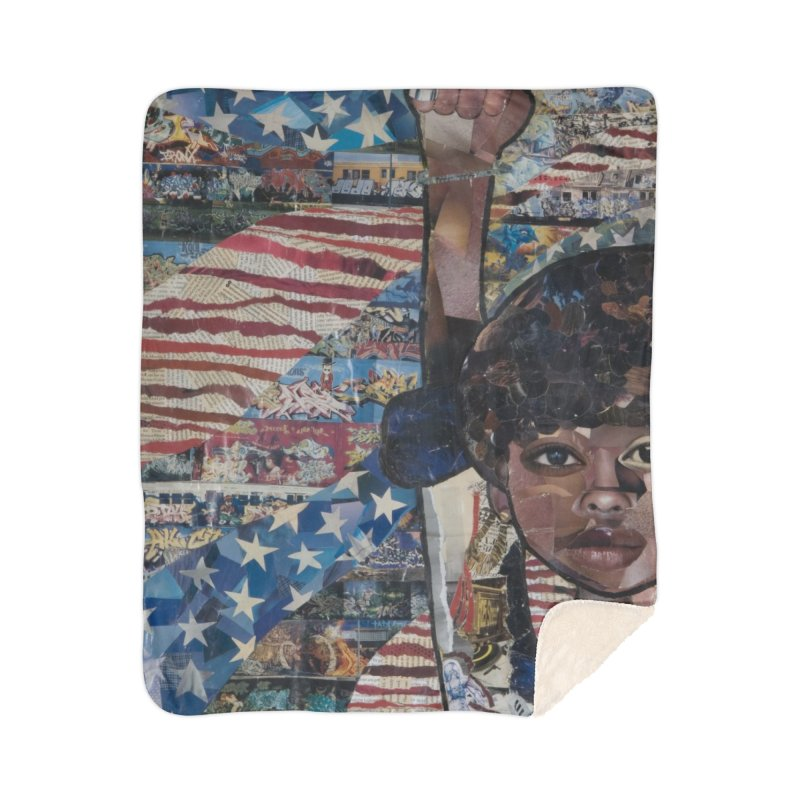 I am Hip Hop Home Sherpa Blanket Blanket by Amanda Seales