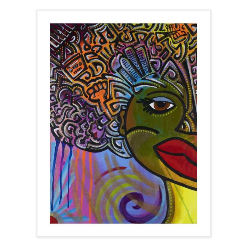 Afro Series 2 Home Fine Art Print by amandaseales's Artist Shop