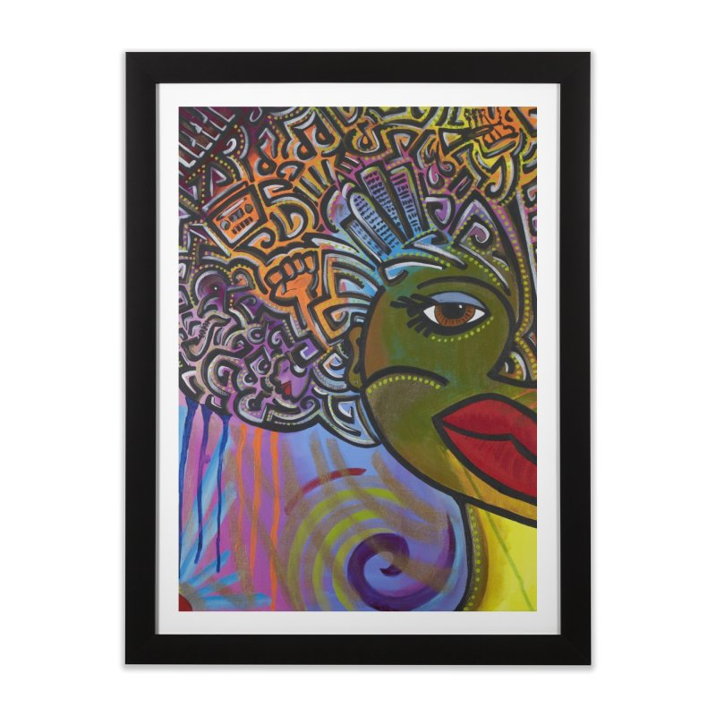 Afro Series 2 Home Framed Fine Art Print by Amanda Seales