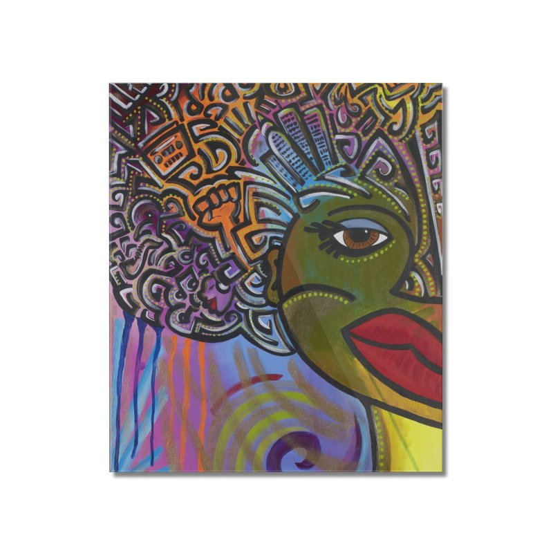 Afro Series 2 Home Mounted Acrylic Print by amandaseales's Artist Shop